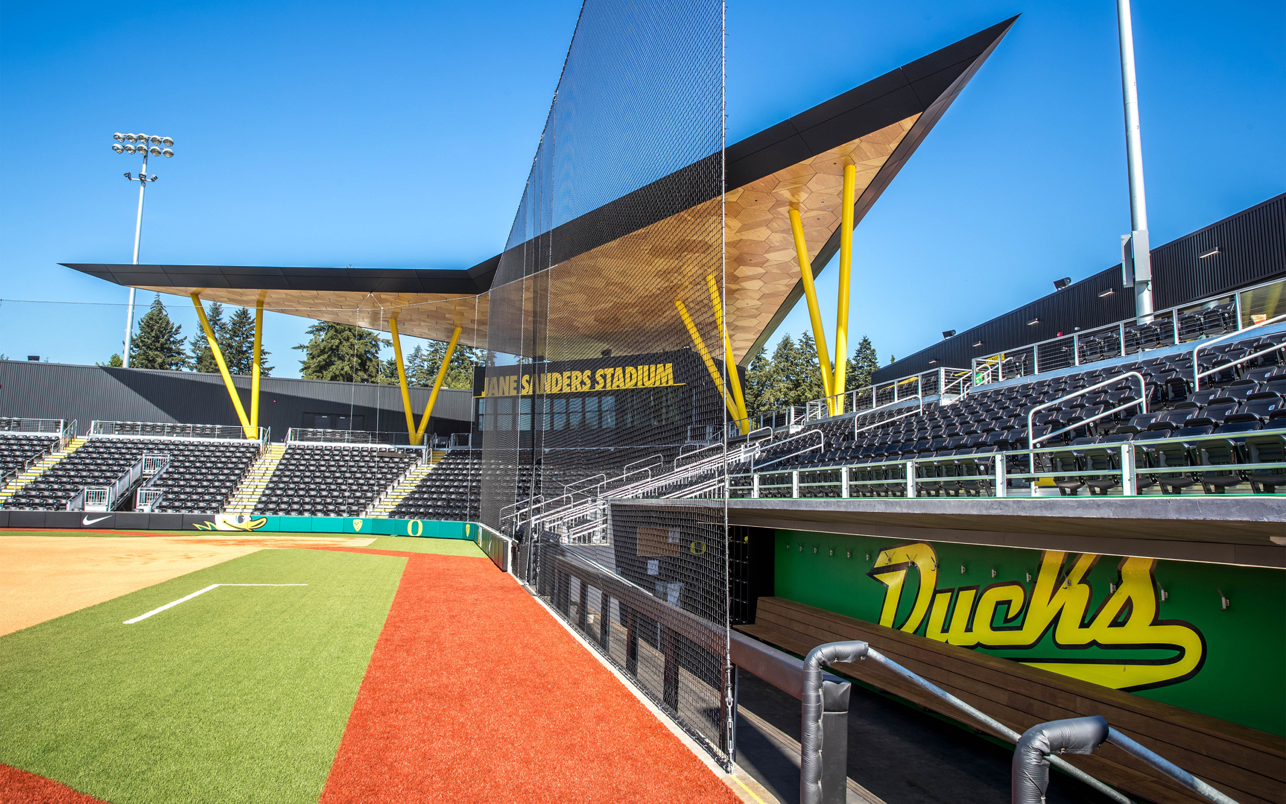 Jane Sanders Stadium dugout and stands