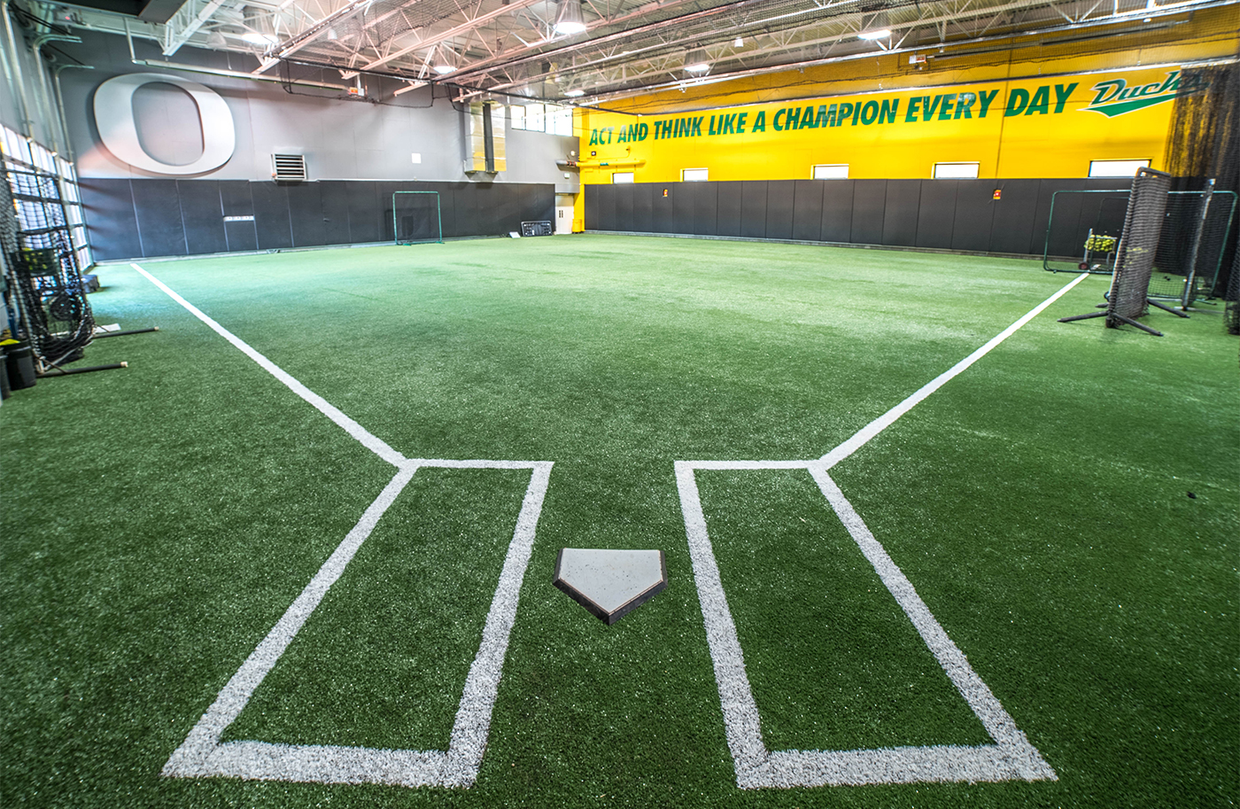 Practice facility oversized throwback graphics by AHM