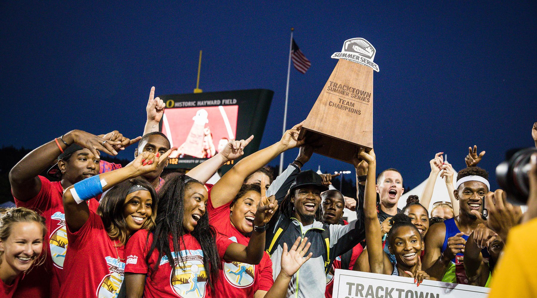 TrackTown Summer Series Champions trophy by AHM