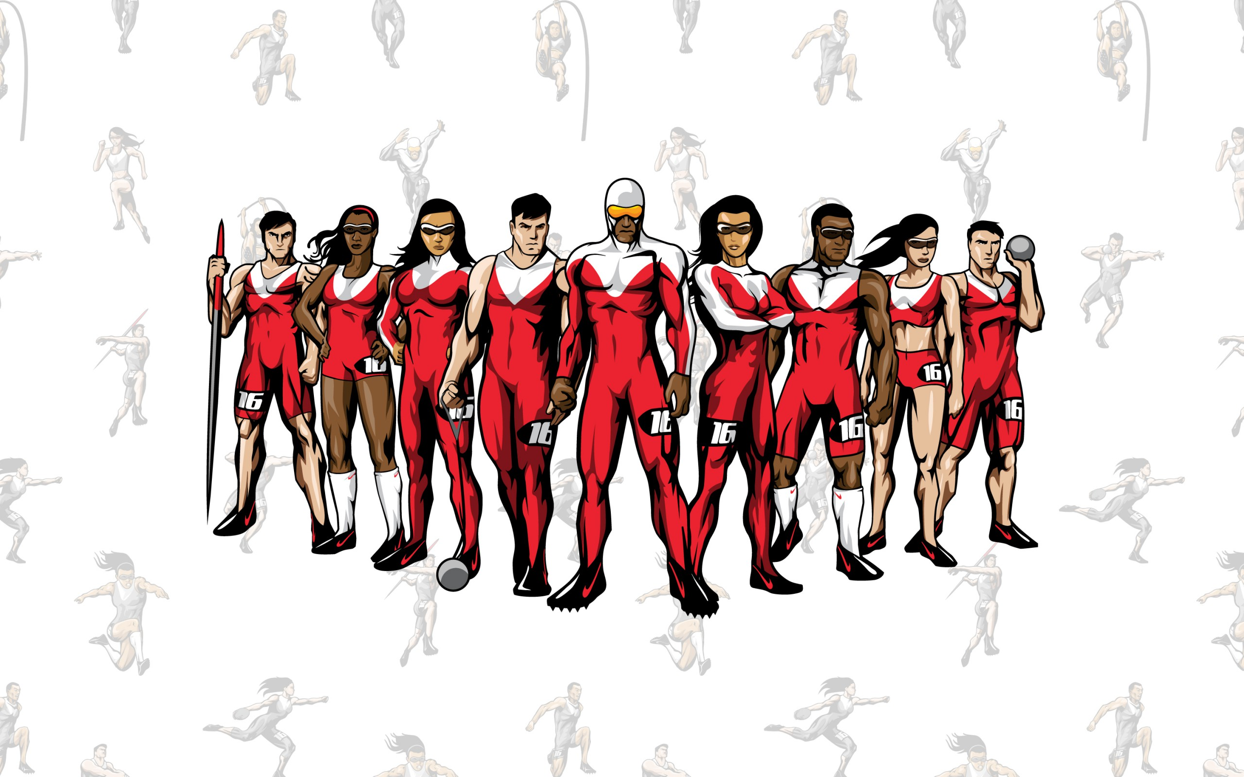 TrackTown Heroes Character Art